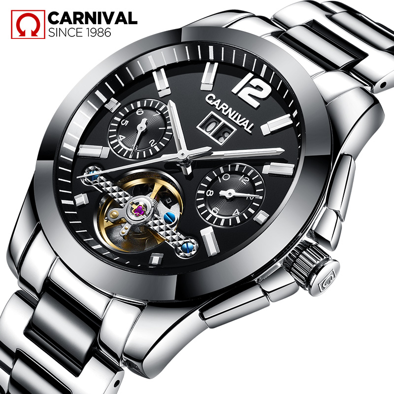 8678G 3 ATM Water-Proof High Performance Ceramic Stainless Steel Business Black Silver Colour Man 2018 Popular Watch