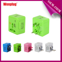 Mini all-in-one world travel smart plug adapter plug with superior function using for all over the world.
