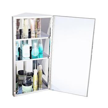 Stainless Steel Bathroom Corner Mirror Cabinets