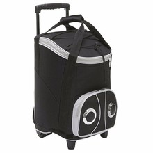 Bluetooth rolling speaker cooler trolley bag