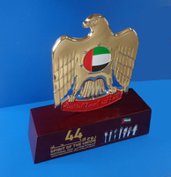 44th Spirit of The Union Printed UAE National Day Falcon Eagle Trophy for Souvenir Gifts