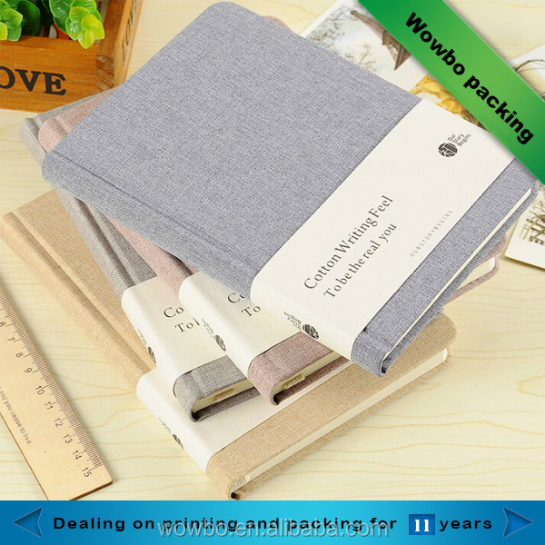Artistic custom office supplies leather notebook/custom pu leather bound notebook