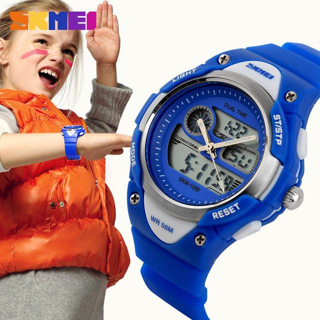 SKMEI brand sports fashionable kids watch waterproof for girl and boy