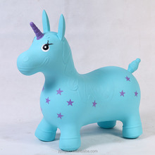 2017 best selling inflatable jumping pony horse for baby unicorn