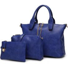 New Design Handbag In Stock with Cheap Price Good Quality Alibaba China 3 Set Leather Bag TCB7522-4
