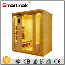 4 person carbon based wholesale container wood sauna for health care