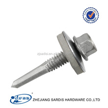 color painted hex washer head roofing screw