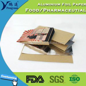 Silver/Gold Heat Insulate Printed Candy Foil Paper Laminated Aluminum Foil Wrapper / Packaging