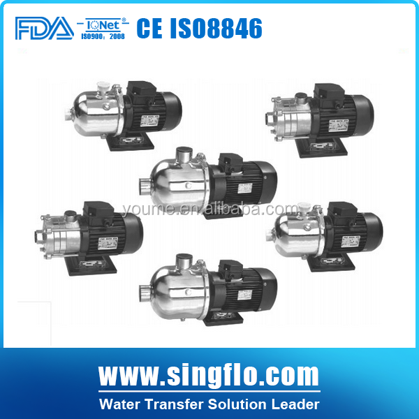 SINGFLO design centrifugal pump impeller SS304/ss316 multistage centrifugal water pump