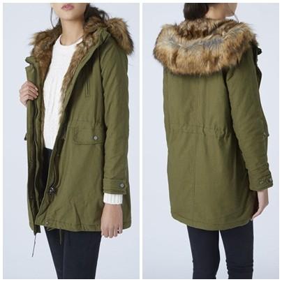 Fur Lined Parka Jacket | Fit Jacket