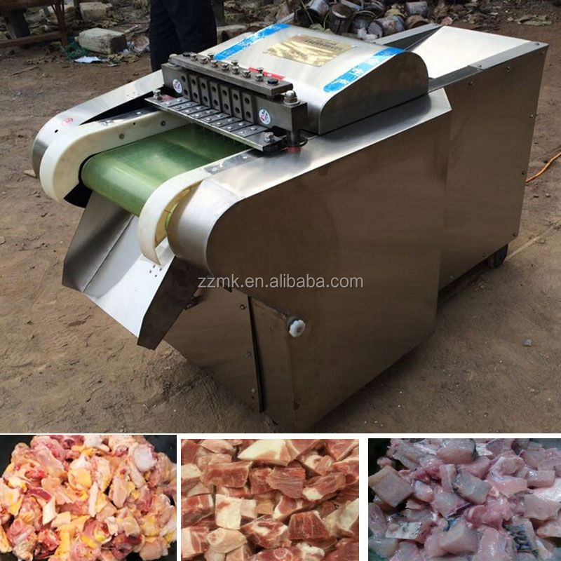 Large used diced meat cube machine