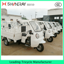 Tricycle with semi closed cabin motorized for adults used for cargo