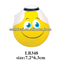 yellow smile face dolls anti stress ball custom pu ball promotion toy ball