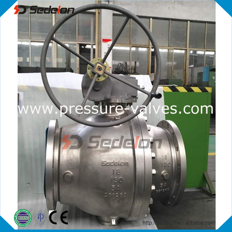 Casting/stainless steel/bronze api 6d 2way trunnion mounted ball valve Factory