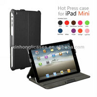 three folders stand cases cover for Ipad mini