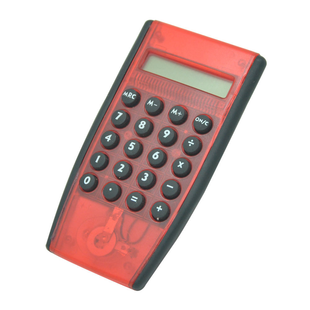 Handhelds Rubber Key Plastic Transparent Calculator
