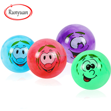 RUNYUAN Custom Colorful Jumping Toy Emoji Ball Mini&Inflatable Ball for Children,OEM,China Manufacturer