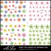 Nail Supplies For Colorful 3D Design Nail Art Sticker Tip Decal Manicure Dry Flower Nail Polish Sticker