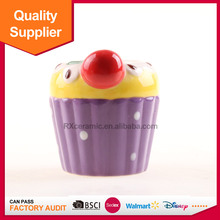 China supplier cherry friut design ceramic mini candle holder