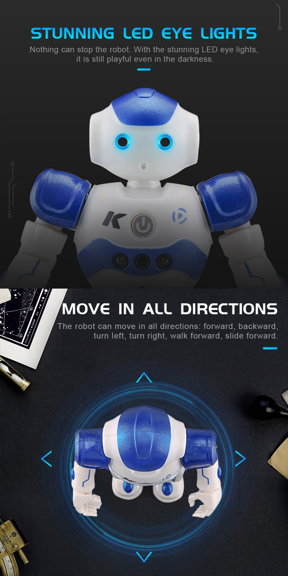 Hot sales Global Drone JJRC R2 smart robot with gesture sensor RC Robot toys for kids children Gift with usb charging cable.jpg