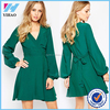 clothing manufacturer Skater Dress with Wrap front Detail women sexy night dress photo