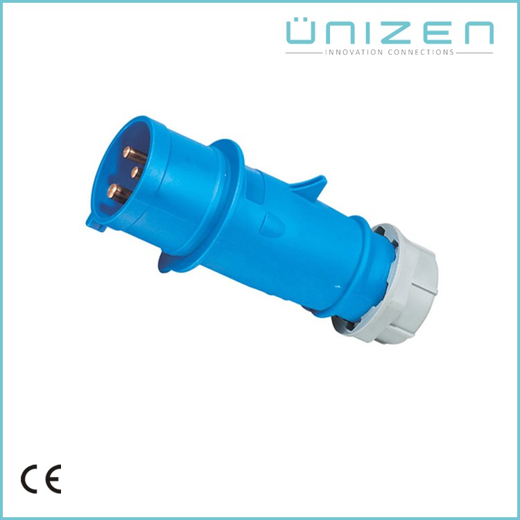 Industrial IP44 3Poles 230V 16A Blue Electrical Plug