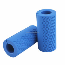 Custom Logo Fitness Training weight lifting non-slip thick Silicone Barbell Grip