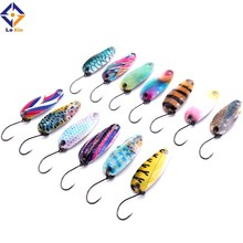 artificial fashion colorful 2.5g single hook metal spoon <strong>fishing</strong> lure <strong>bait</strong>