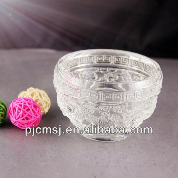 2015 Wholesale unique beautiful carving crystal bowl for home decoration and gift