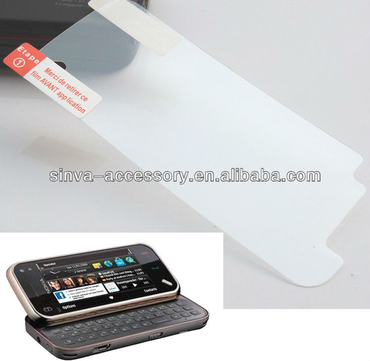 Matte finish screen protector film for Nokia 808