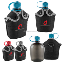 wholesale hot selling 3-in-1 1L US Army Military Outdoor Water Bottle Drinking Container with Canteen & Nylon Carrying Pouch