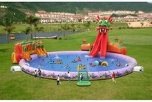 water park inflatable trampoline for kid