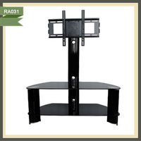 led glass tv stand china television luxury apartment container RA031
