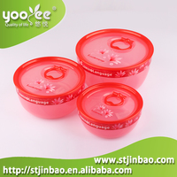 Round plastic ice cream box with lid of lock system