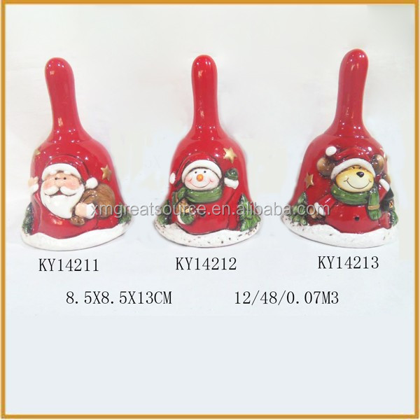 small ceramic christmas bells wholesale