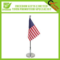 Polyester Metal Stand Office Desk Flags