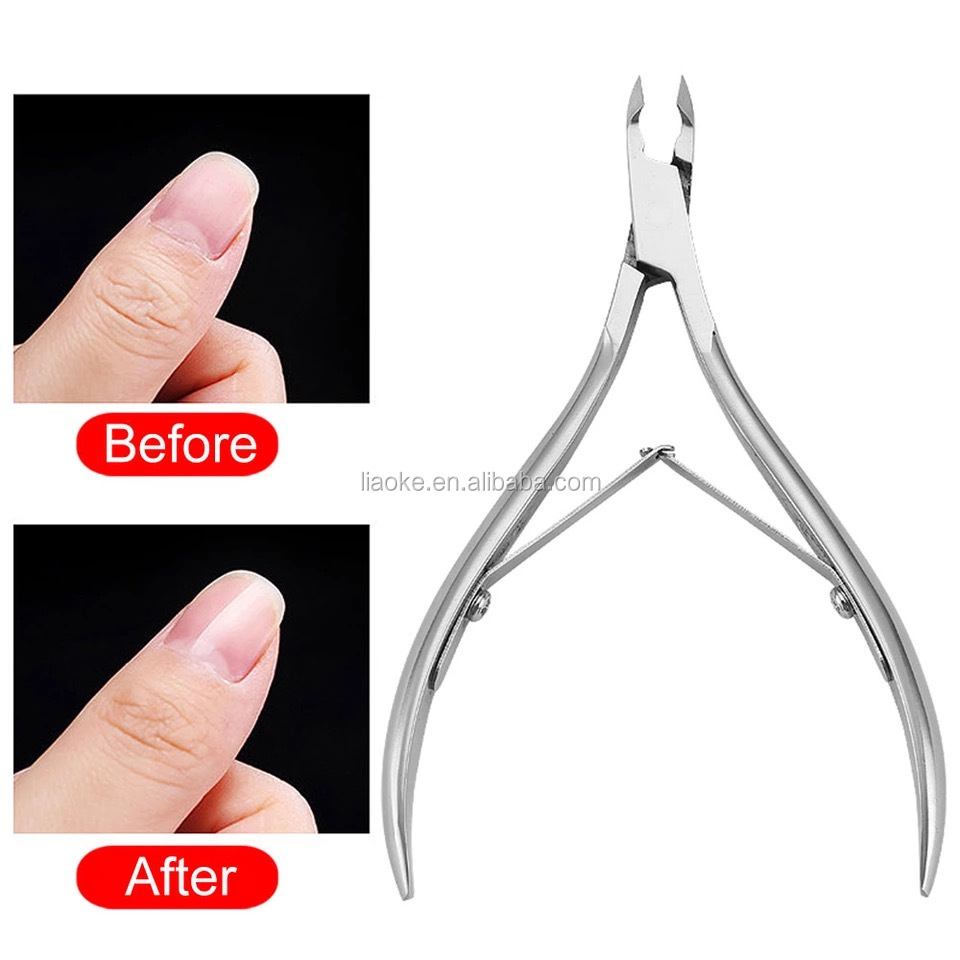 Professional high quality stainless steel nail cuticle nipper sharp dead skin cuticle nail nippers