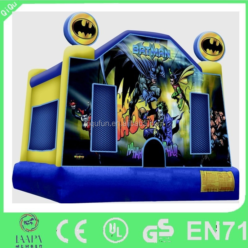 Batman Cartoon painted inflatable bouncer/ inflatable jumper/inflatable bounce house