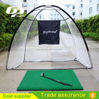 3m black target shoot Portable Golf Training Net Practice Driving Chipping Soccer Cricket Target Tent Golf Net