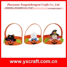 Halloween decoration (ZY11S357-1-2-3 7'x 8') halloween candy basket, halloween felt bag decoration, fabric halloween decor