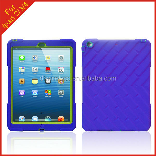 China Supplier for Apple iPad 2 3 4 tire grain robot case