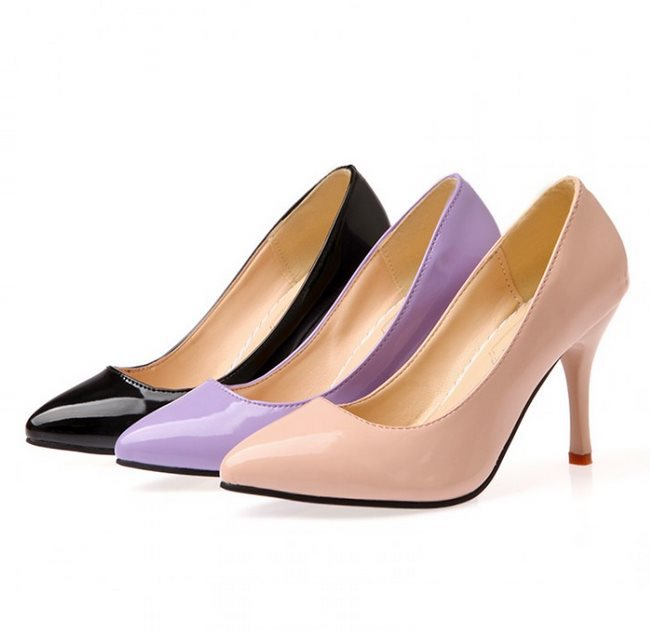 Get Quotations · 2014 New Arrival Big Size 32-40 Pointed Toe Black Apricot  Purple Fashion High Heels