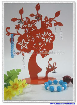 Metal jewelry stand Laser cut metal jewelry holder