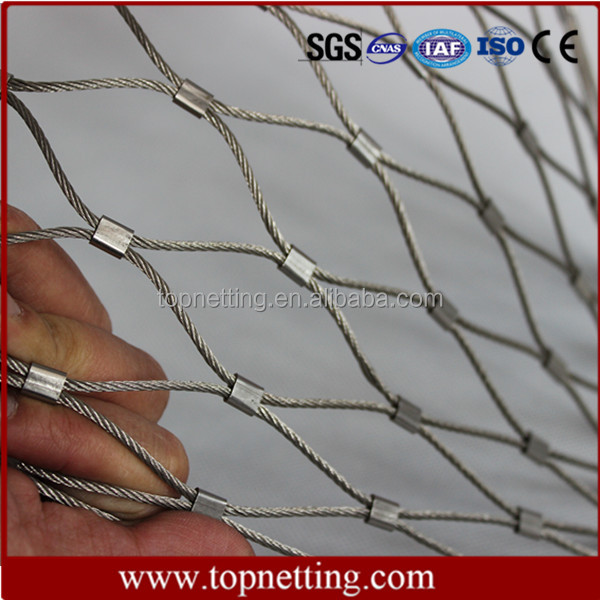 Hand Woven Stainless Steel Wire Rope Zoo Fencing Mesh