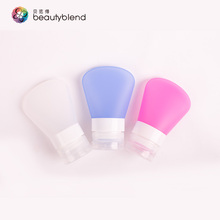Beautyblend K-8013-1/2/3 Chinese manufacturer refillable water proof 37ML shampoo bottle silicon travel bottles colorful bottles