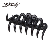 "Plastic 4.1"" Barrette Hairpin Clamp Hair Claw Clip for Ladies"