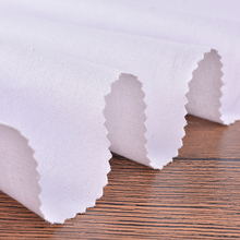 0.55mm Wholesale thin pure white organic cotton canvas drill fabric for baby's clothes
