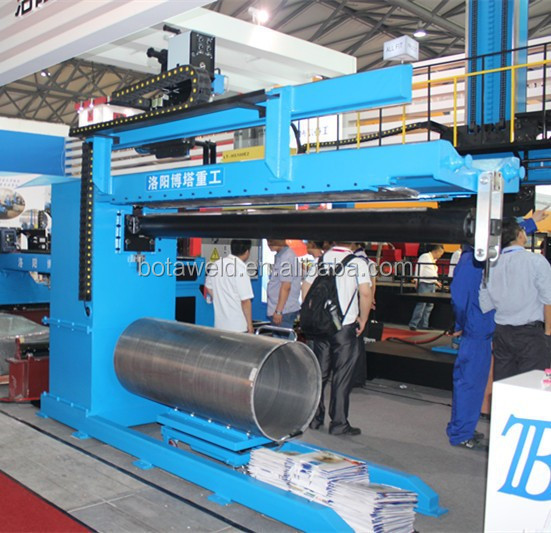 Automatic straight seam welding machine/thin-wall tank welding