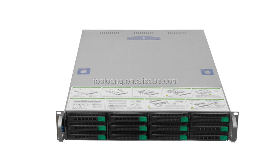 High quality 12 bays server case storage server case