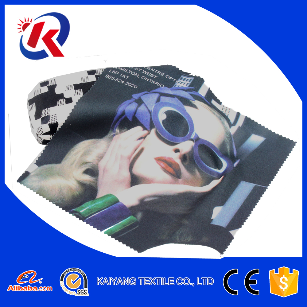 Hot transfer printed microfiber clean cloth with Zodiac image